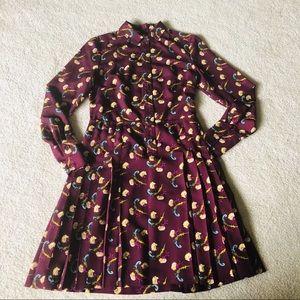Banana Republic Pleated Skirt Shirt Dress!